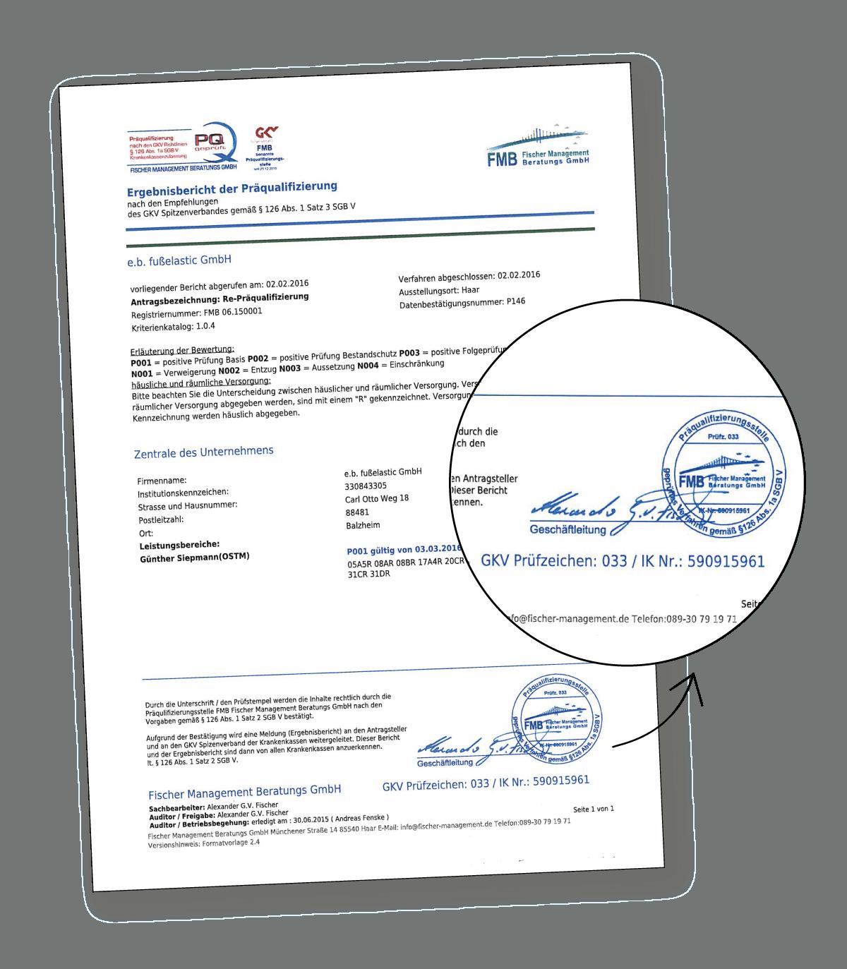 Fusselastic Certificering